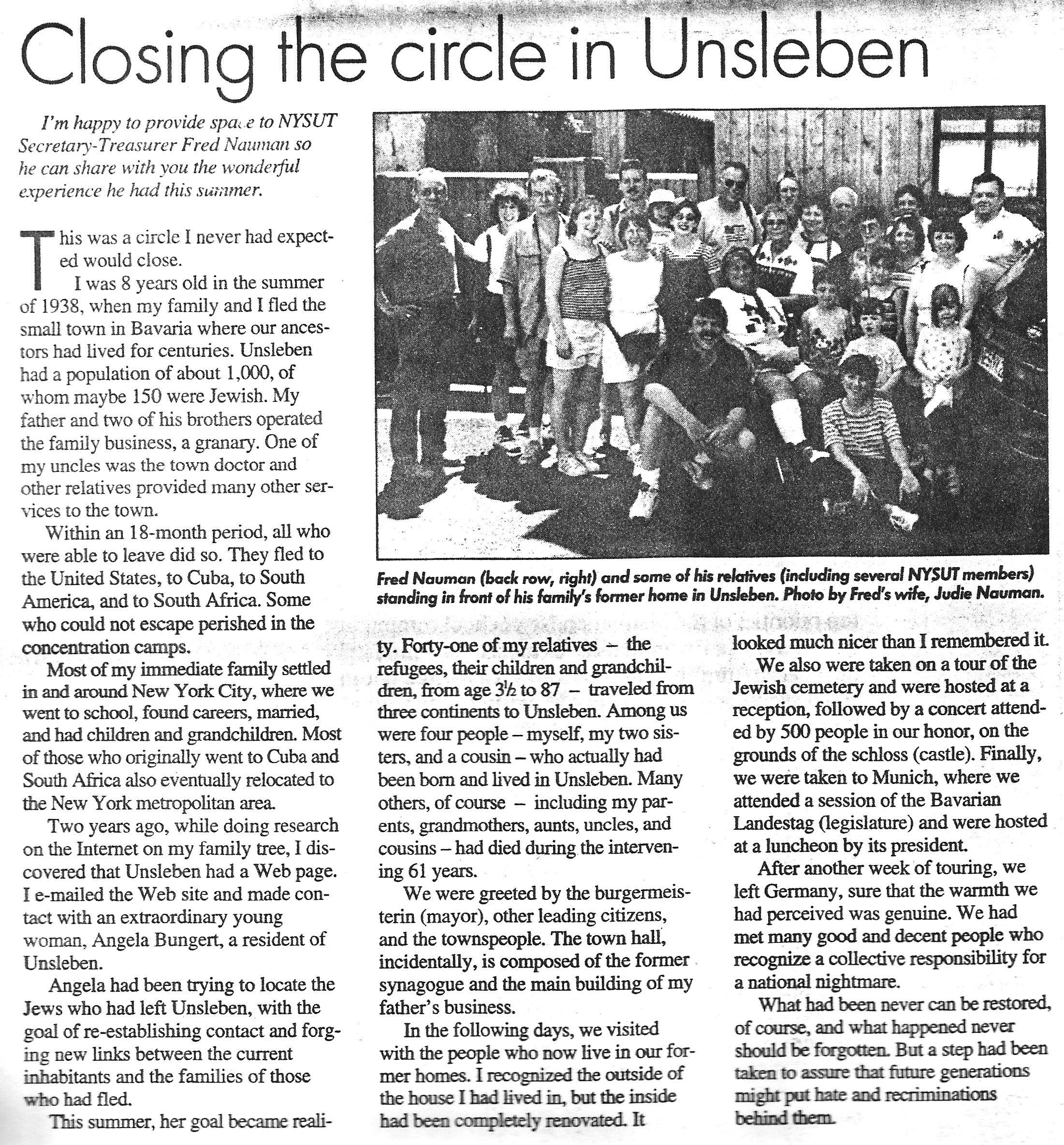 NYSUT article '99