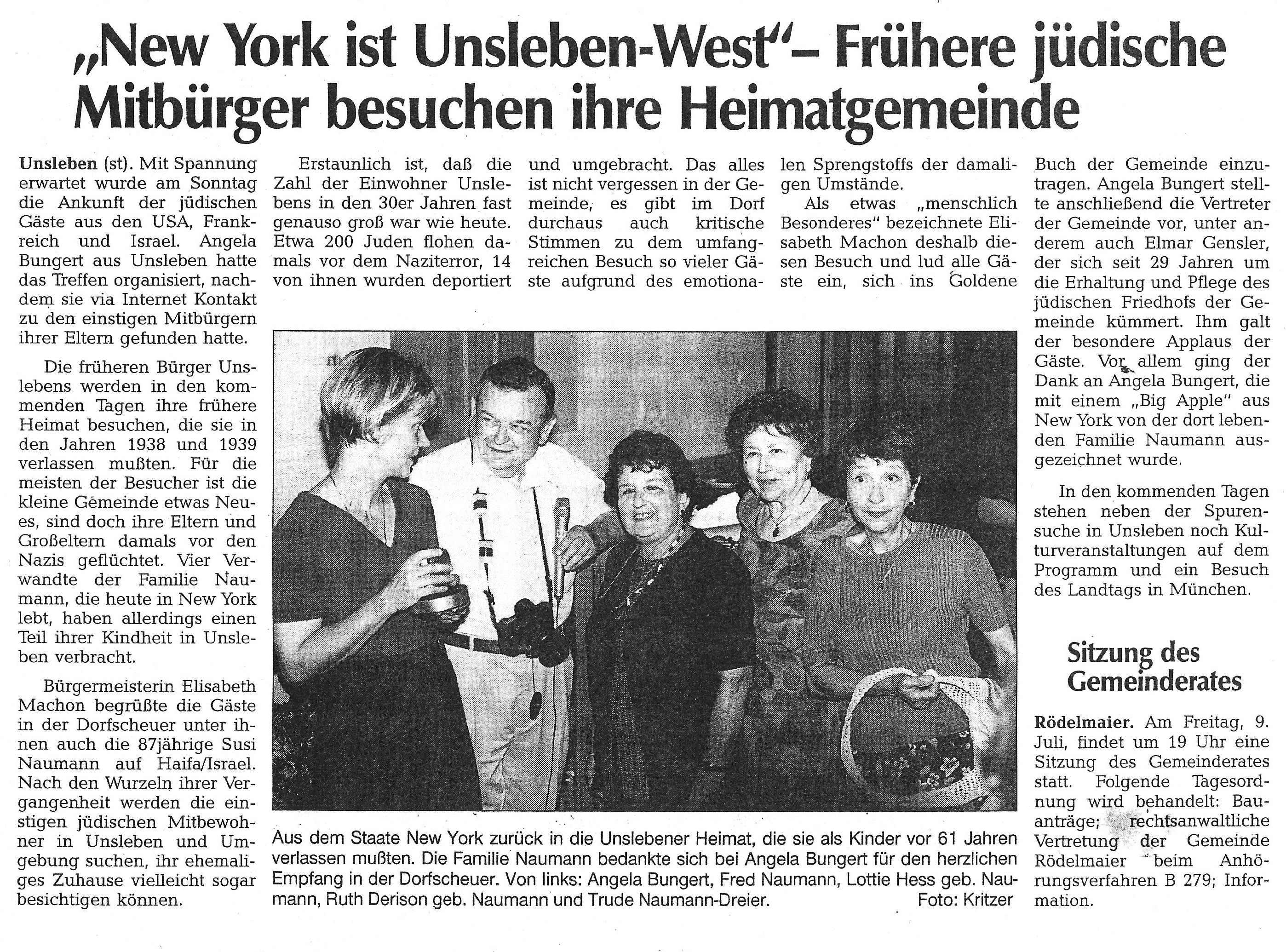 Unsleben West article 2 '99